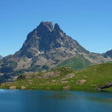lake, mountain, summit, Panasonic DMC-FS3