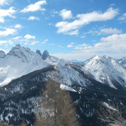 mountain, snow, sky, Nikon COOLPIX AW100