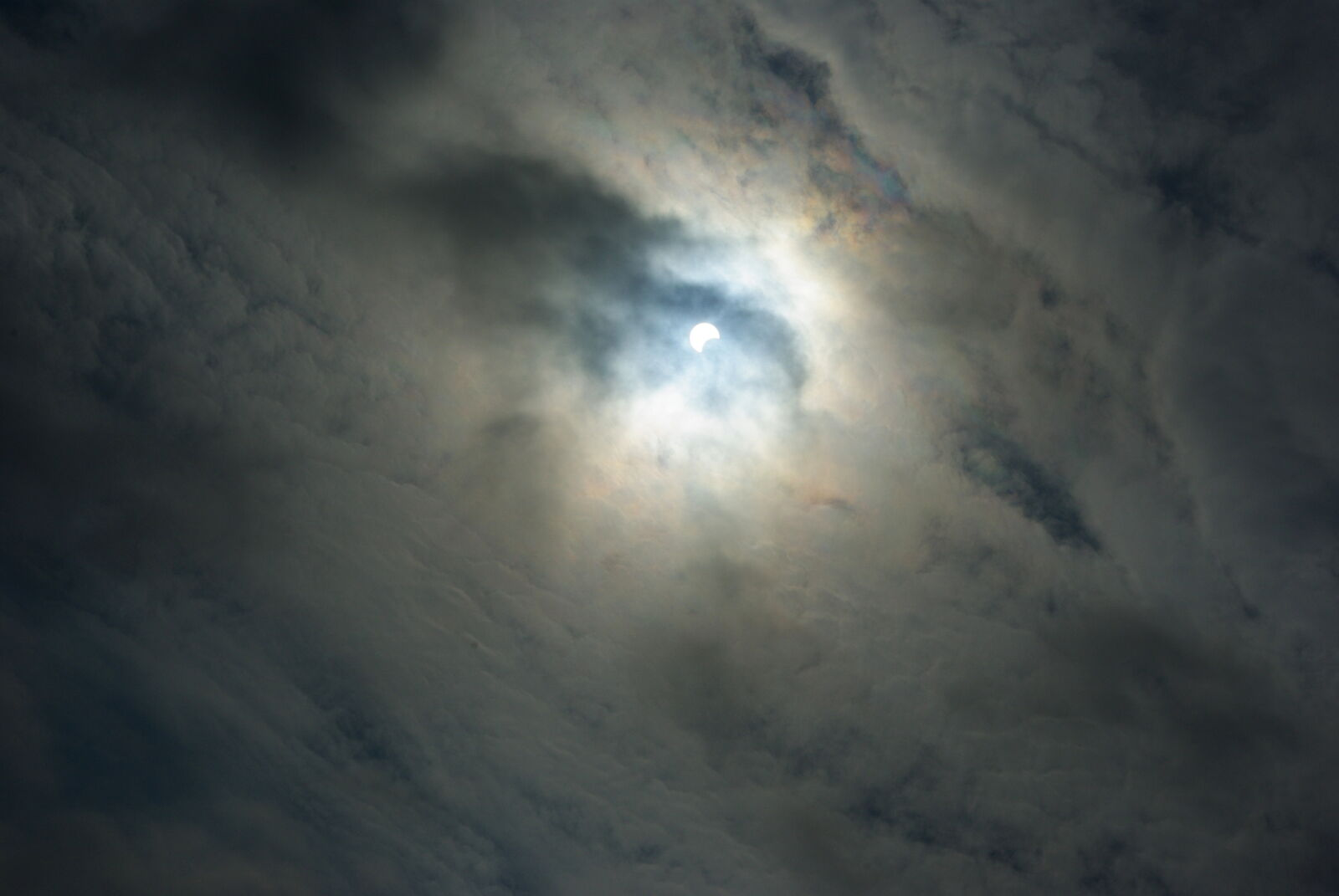 """Pentax K10D sample photo. """"Clouds, eclipse, moon, partial"""" photography"""