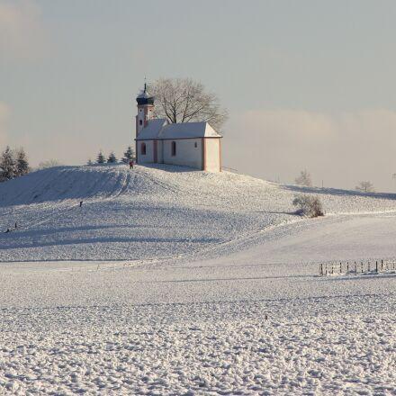 panorama, winter, chapel, Canon EOS 600D