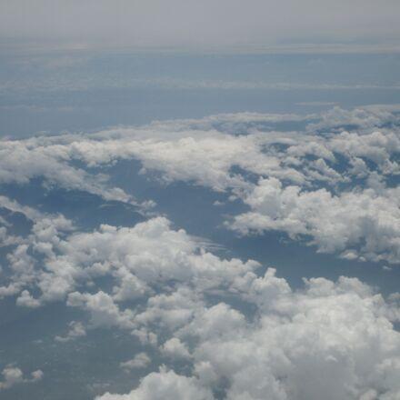 sky, clouds, blue, Panasonic DMC-FX36