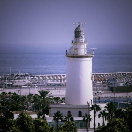 malaga, lighthouse, sea, Canon EOS 1100D