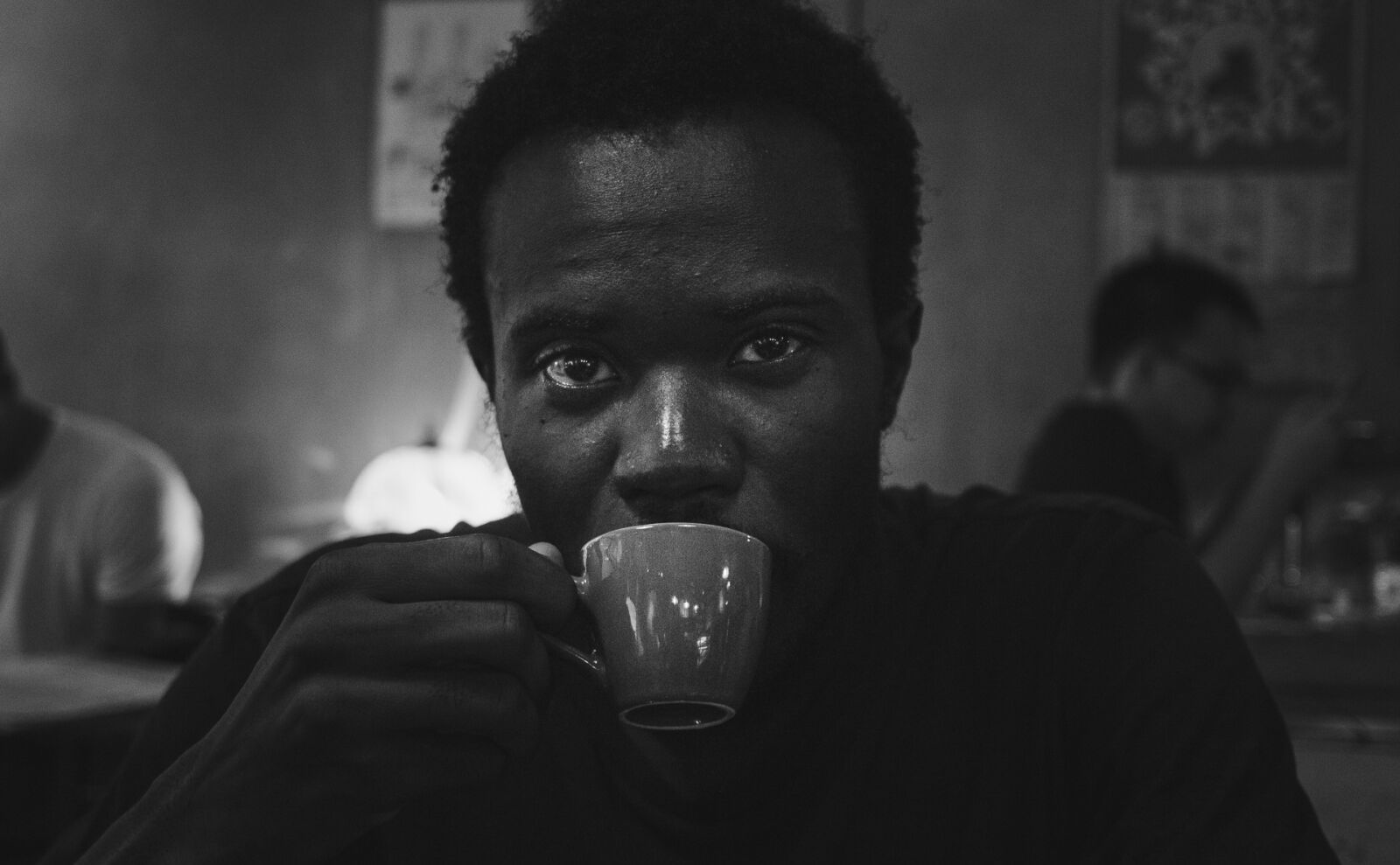 portrait, coffee, young