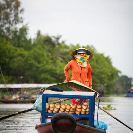 boat, floating market, subsistence, Canon EOS 5D