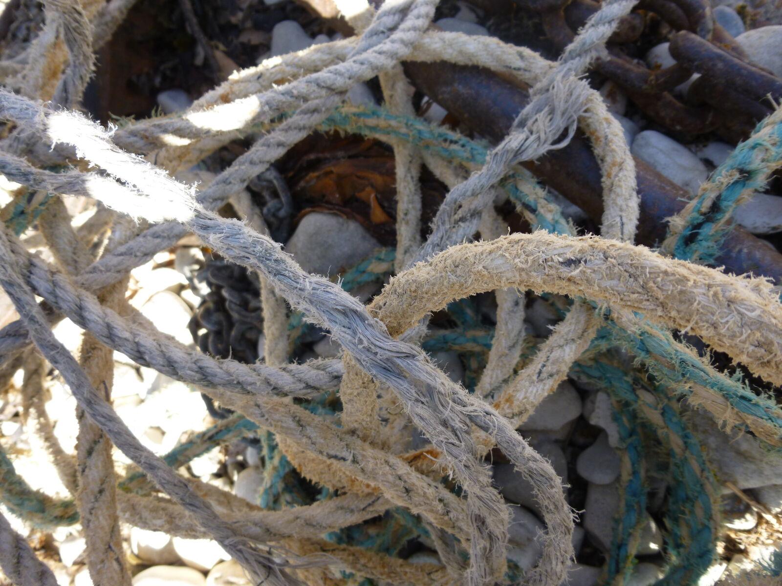 "Panasonic DMC-SZ3 sample photo. ""Beach, micro, rope, sea"" photography"
