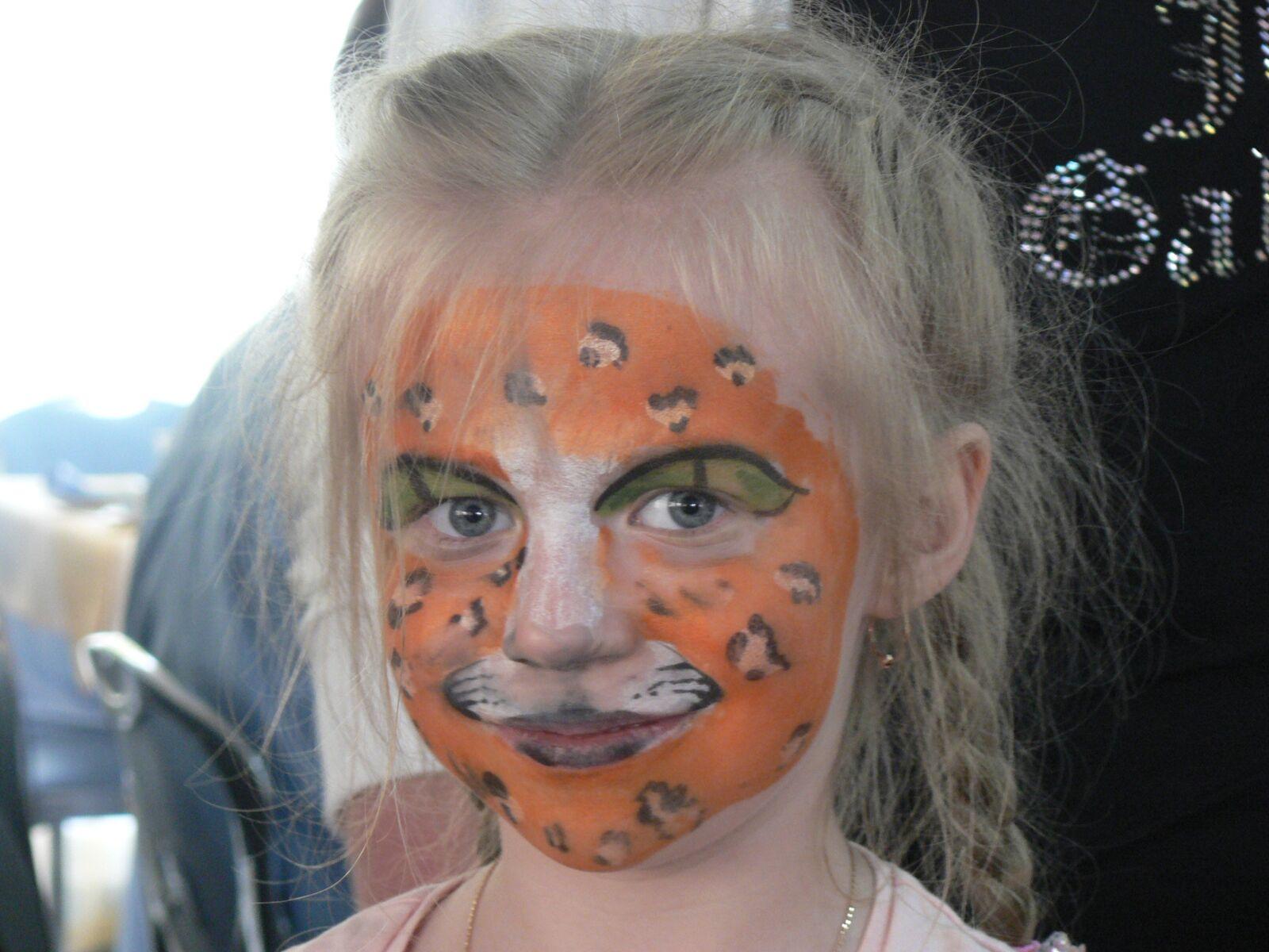 the girl-cat, aqua make-up