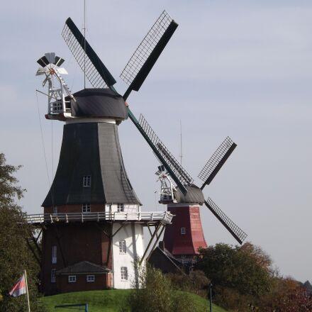 north sea, mill, windmill, Fujifilm FinePix S4500