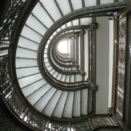 staircase, spiral, interior, Canon POWERSHOT A2000 IS