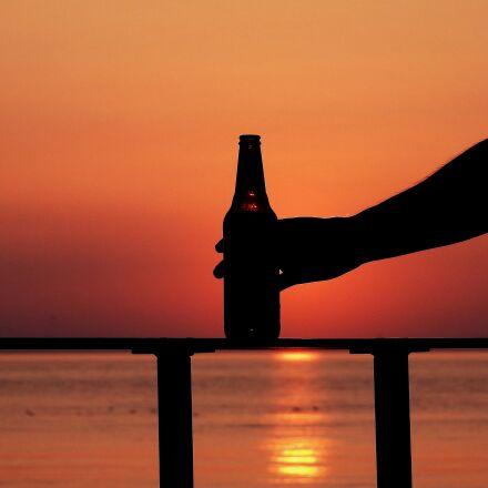 the baltic sea, sunset, Nikon COOLPIX P900