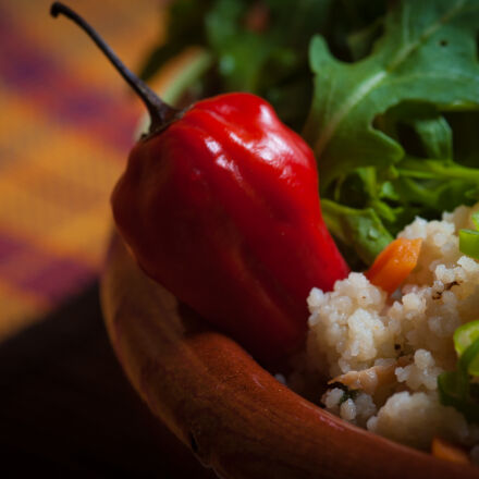 food, rucola, chili, pepper, Nikon D700