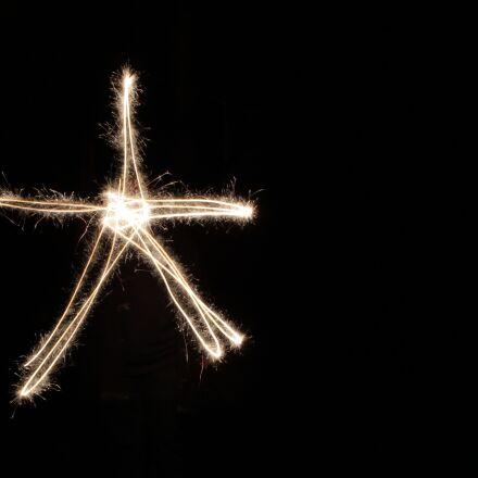 sparkler, light art, star, Canon EOS 700D