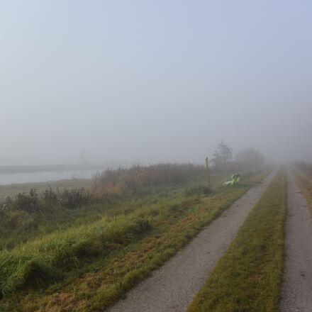 polder, landscape, fog, Nikon 1 S2