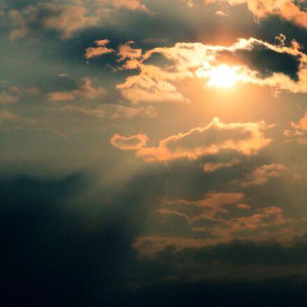 sun, clouds, gold, Canon EOS 70D