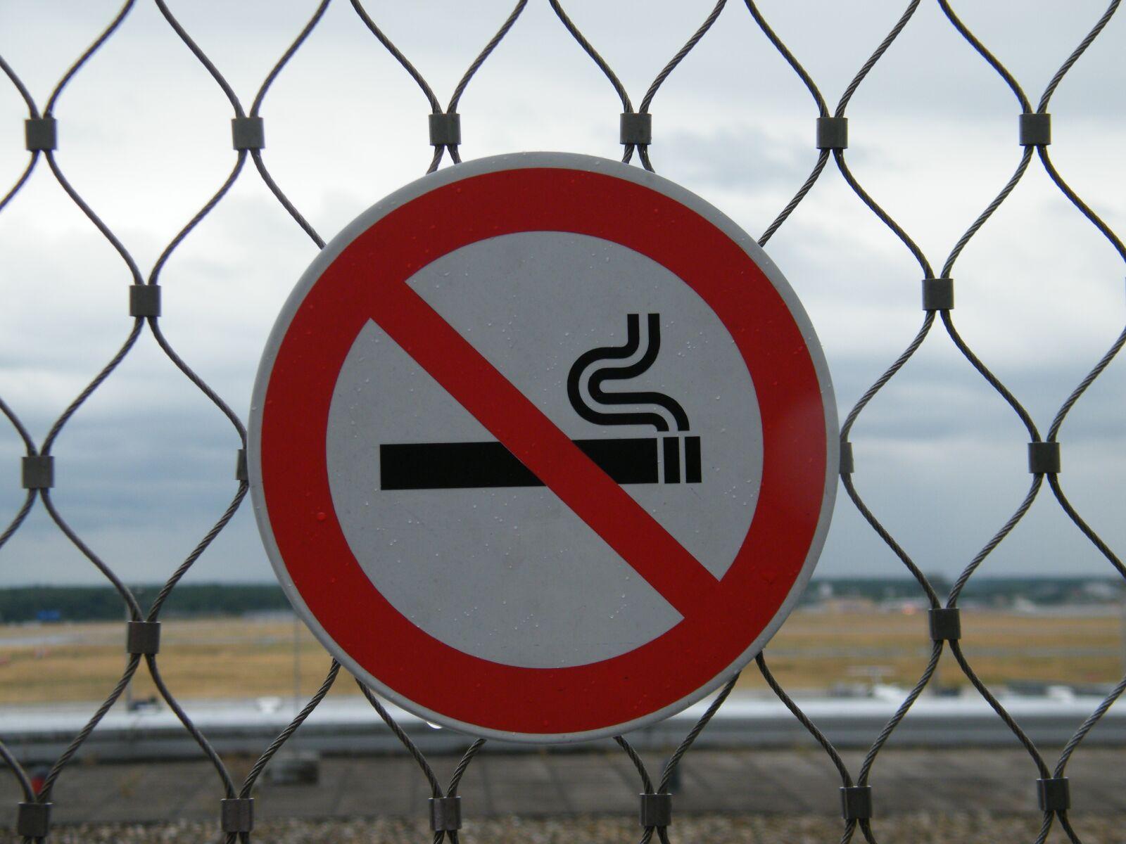 "Fujifilm FinePix S2000HD sample photo. ""Non smoking, prohibited, shield"" photography"