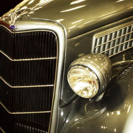 vintage car, grill, headlight, Canon EOS 7D