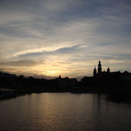 kraków, poland, sunrise, Sony DSC-W210