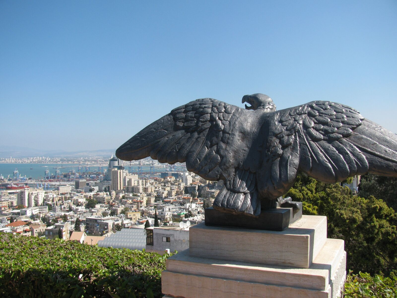 "Canon PowerShot SX110 IS sample photo. ""Eagle, haifa, israel"" photography"