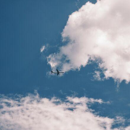 sky, clouds, airplane, plane, Samsung NX3000