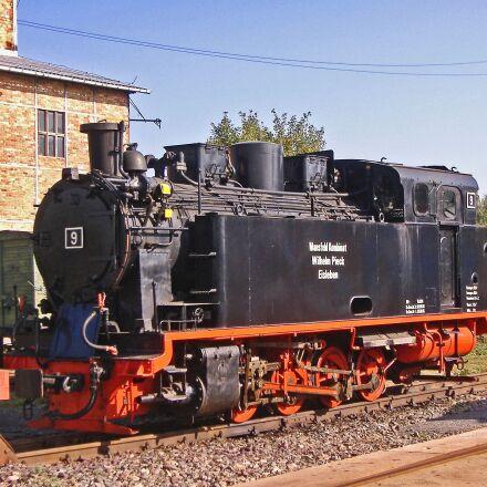 steam locomotive, factory railway, Fujifilm FinePix A345
