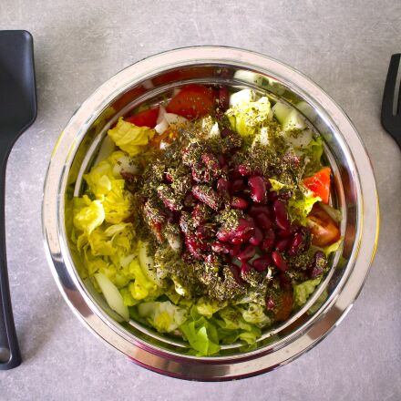 kitchen, salad, cutlery, Nikon 1 J5
