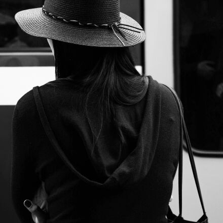 woman, hat, black and, Nikon D600