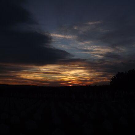 sunset, twilight, landscape, Fujifilm FinePix S3200