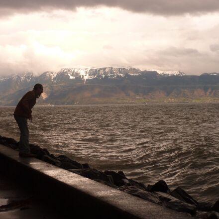 sea, lake, scream, Panasonic DMC-TZ6