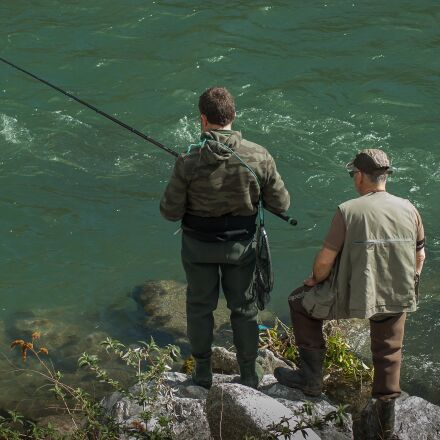 fishermen, fishing, fishing rod, Pentax K10D