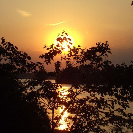 sunset, summer, nature, Fujifilm FinePix S1800