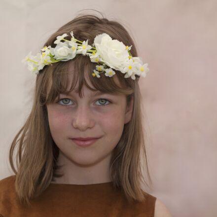 girl, child, flowers, Canon EOS 5D MARK II