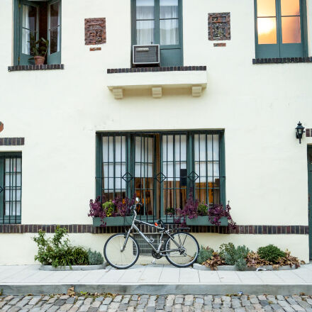 apartment, bicycle, bike, building, Nikon D700