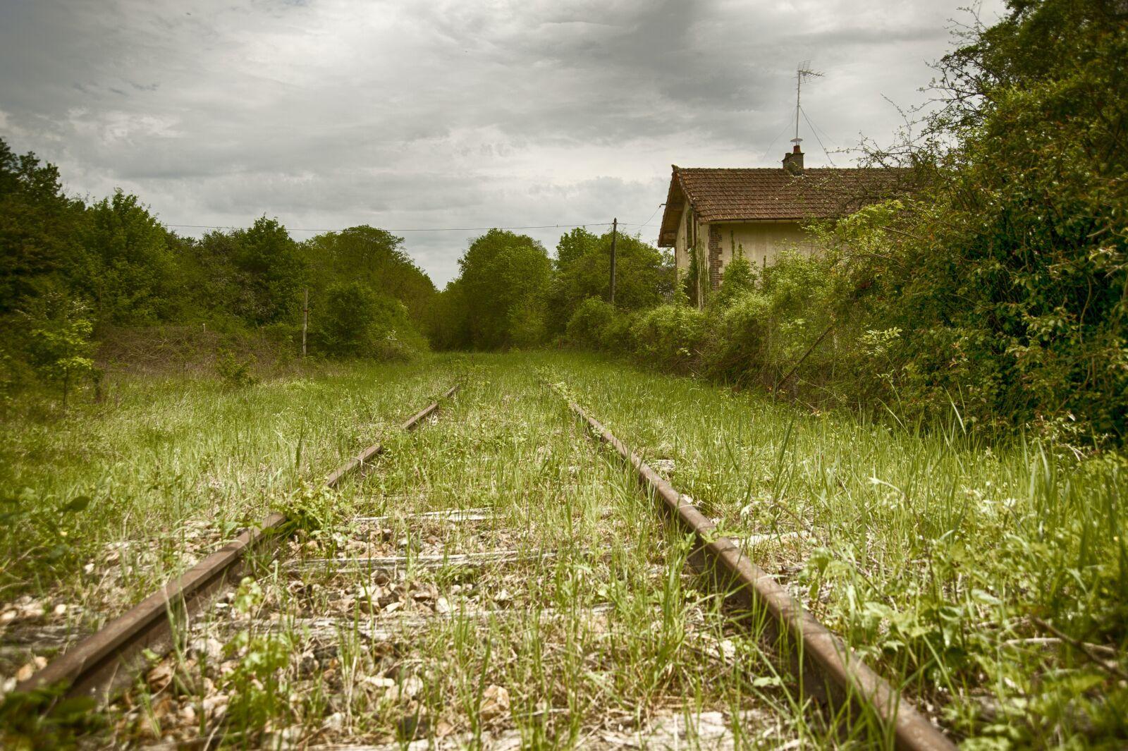 "Nikon D700 sample photo. ""Railway, rails, abandoned"" photography"