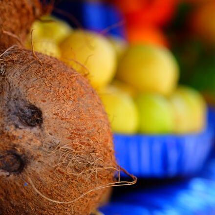 india coconut, fruit, tropical, Fujifilm X-T1