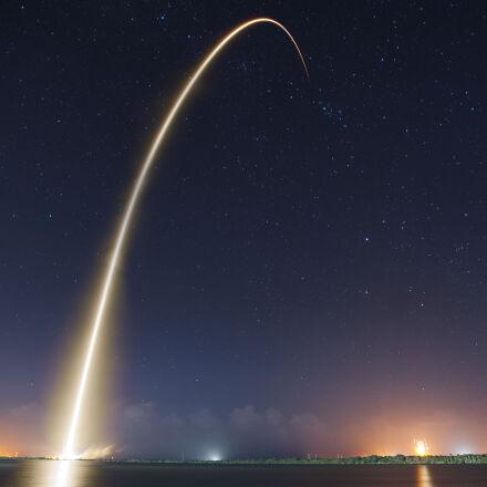 rocket, launch, liftoff, long, Nikon D700