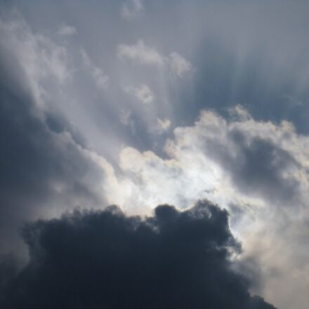 cloud, sun, light, Canon IXY DIGITAL 910 IS