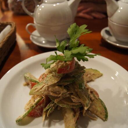 eat, restaurant, salad, tea, Sony DSLR-A550