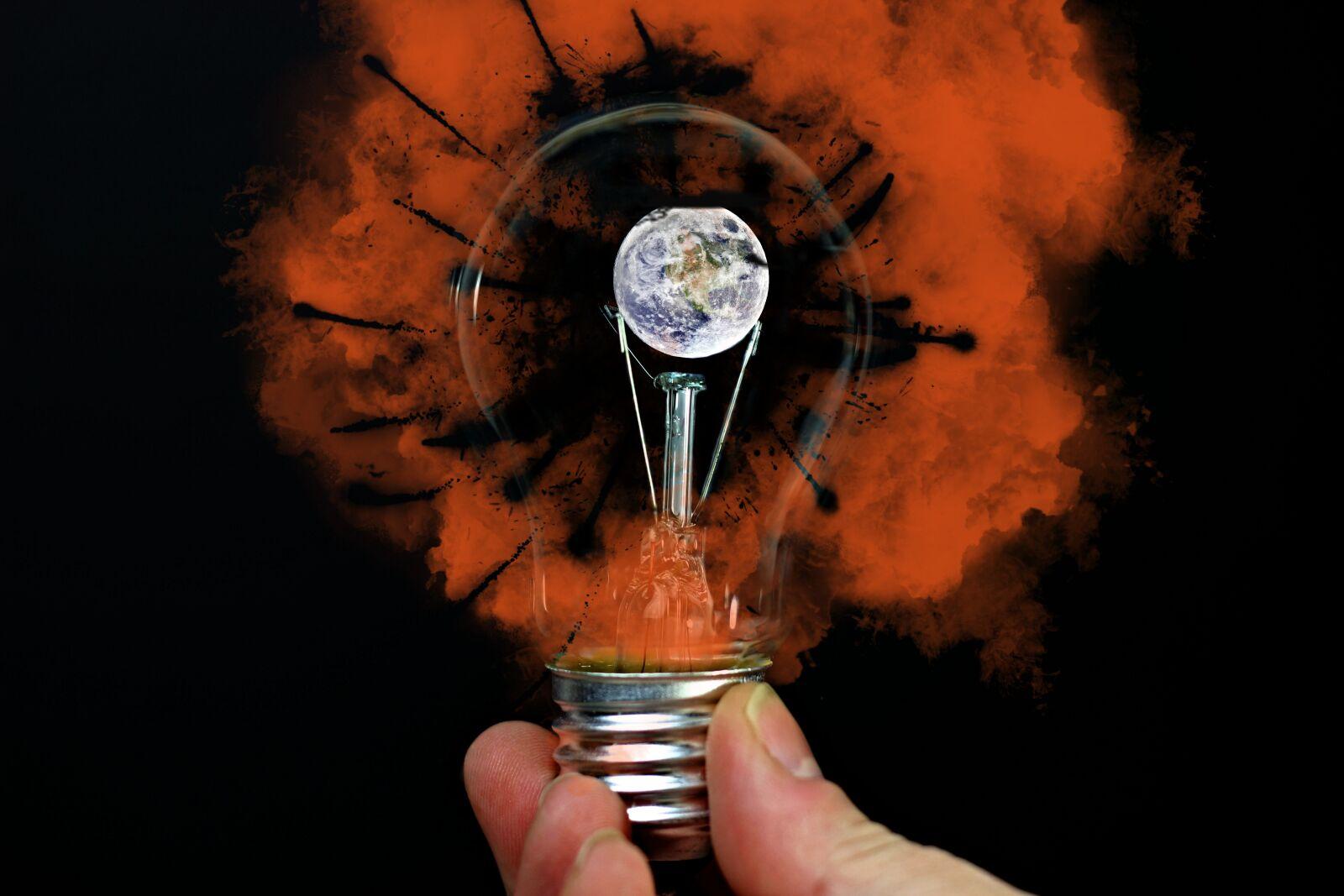 light bulb, earth, warming