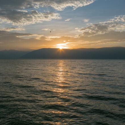 cloud, sea, sunset, yelllow, Canon EOS 6D