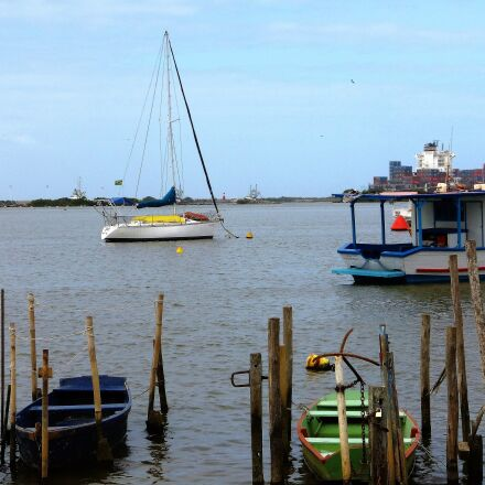 wooden boats, fishing, mar, Panasonic DMC-FH8