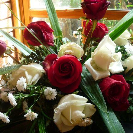 bouquet, flowers, roses, Panasonic DMC-LS85