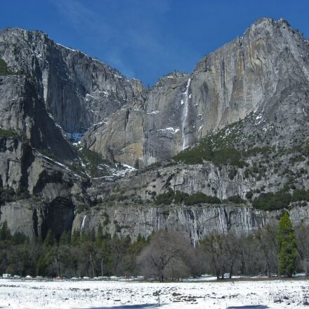 yosemite, waterfall, snow, Canon IXY DIGITAL 800 IS