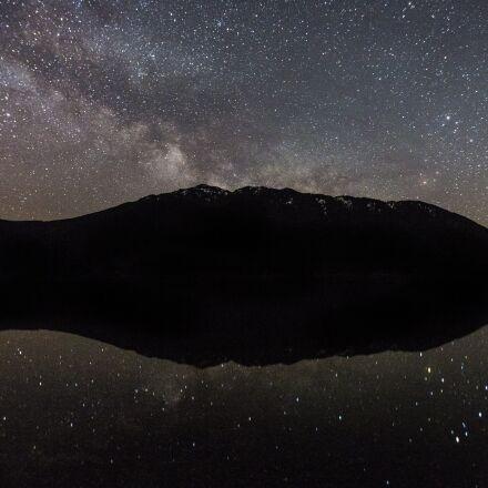 scenic, stars, lake, Canon EOS 5D MARK III