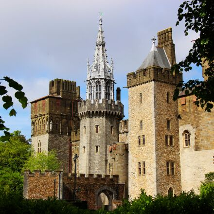 castle, architecture, cardiff castle, Canon EOS 700D