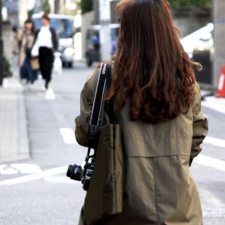 back, camera, city, female, Canon EOS 50D