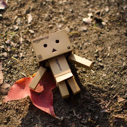 brown, cardboard, robot, artwork, Nikon D7000