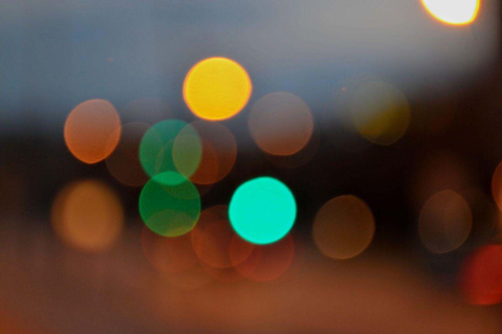 "Nikon D3100 sample photo. ""Blue, blur, bokeh, circles"" photography"
