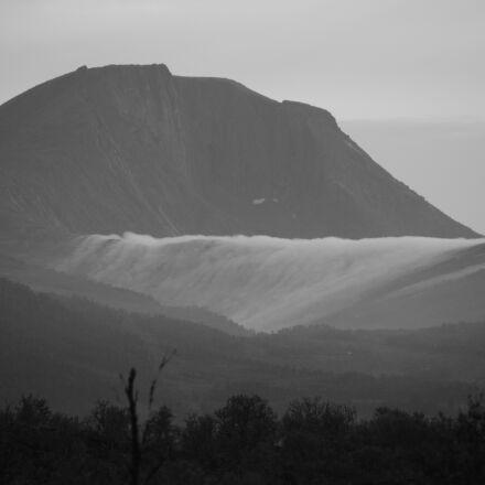 cloud, fog, mountains, nature, Nikon D5200