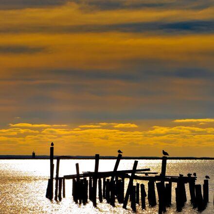 island, tower, coast, Nikon D90