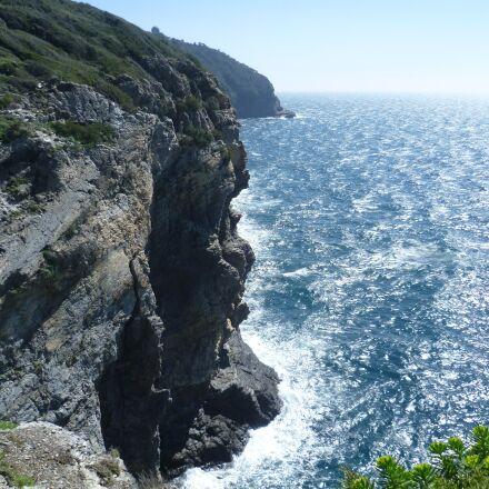 sea, rock, abyss, Panasonic DMC-FS10