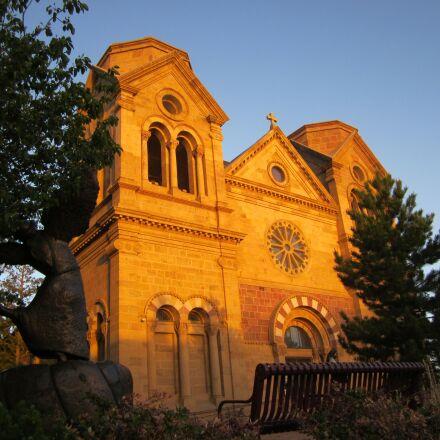 church, santa fe, architecture, Canon POWERSHOT A1200